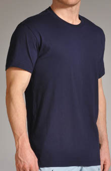 Folded Knit Crew Neck T-Shirt