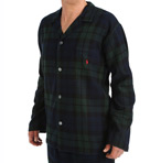 Flannel Long Sleeve Pajama Top