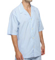 Woven Cotton Short Sleeve Pajama Top Image