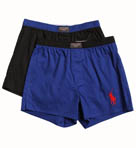 Slim Fit Woven Boxers 2 Pack Gift Set