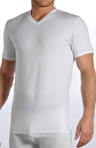 Stretch Cotton Jersey V Neck
