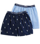 Polo Ralph Lauren Boys Classic Cotton Woven Boxer - 2 Pack RK06