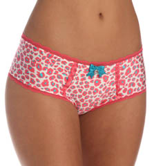 Pretty Polly Lingerie Printed with Lace Shorty Panty PP342