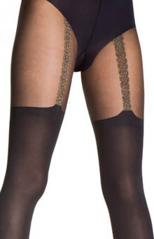 House of Holland Chain Suspender Tights