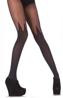 House of Holland Spike Mock Hold Up Tights