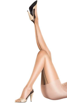 Pretty Polly 10 Denier Sheer Gloss Backseam Tights PMAKQ4