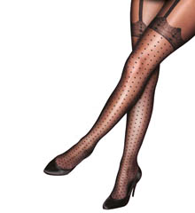 Pretty Polly Curves Plus Size Pretty Spotty Hold Up Tights PMASC9