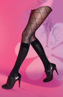 Pretty Polly Secret Patterned Sock Tights