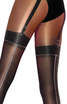 Pretty Polly Pretty Stunning Lurex Mock Suspender Tights
