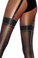 Pretty Stunning Lurex Mock Suspender Tights Image
