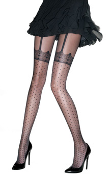 Pretty Polly Pretty Spotty Hold Up Tights PUART8