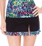 Aztec Solid Ruffled Skirted Swim Bottom