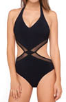 Martini V-Neck Cut Out One Piece Swimsuit Image