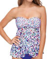 Beach Glass Fly Away Bandeau Tankini Swim Top Image