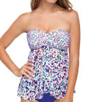 Profile by Gottex Beach Glass Fly Away Bandeau Tankini Swim Top 4511B19