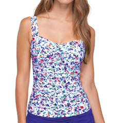 Profile by Gottex Beach Glass D/E Cup Underwire Tankini Swim Top 4511D18
