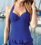 Starlet Padded D Cup Halter Tankini Swim Top Image