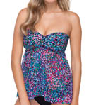 Profile by Gottex City Lights Fly Away Bandeau Tankini Swim Top 4531B19