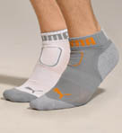 Puma Quarter Top Cushioned Heel/Toe Sock 2 Pack P78891