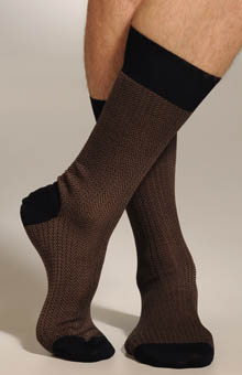 Two Color Herringbone Sock
