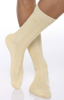 Egyptian Soft Cotton Ribbed Anklet