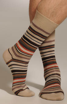 Multi-Color Stripe Sock