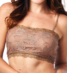 Pure Style Girlfriends Lace Camiflage Wire-Free Bandeau Bra 1520