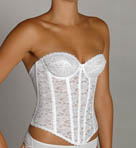 Strapless Lace Brasselette with Garters