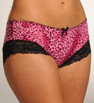 Pink Animal With Black Lace Panty