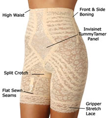 Rago 6207 High Waist Long Leg Shaper Girdle