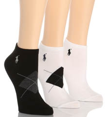 Ralph Lauren Blue Label RL Sport Argyle Ped Sock 3 Pair Pack 7472PK