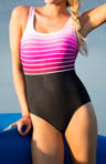Reebok Breaking Of Dawn Fitness Back One Piece Swimsuit 850516