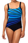 Vanishing Light Square Neck One Piece Swimsuit