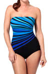 Vanishing Light Bandeau One Piece Swimsuit Image