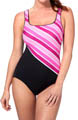 Stripe it Rich One Piece Swimsuit Image