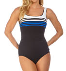 Ship Shape Square Neck One Piece Swimsuit Image