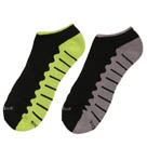 Wave Sole Low Cut Socks - 2 Pack