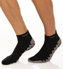 Reebok Wave Sole Quarter Socks - 2 Pack