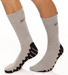 Reebok Wave Sole Crew Socks - 2 Pack