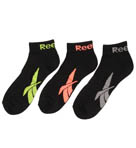 Reebok 3 Pair Vector Quarter Socks AKR344