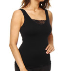 Rhonda Shear Ahh Cupid Seamless Shelf Tank with Lace Panel 4034A
