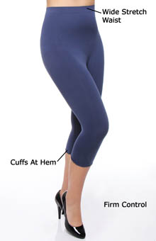 Rhonda Shear Ahh Smooth Seamless Capri Legging R1387
