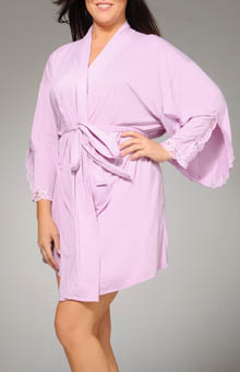 Shear D-Lites Short Kimono Robe