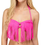 Surf Essentials Fringe Bandeau Swim Top Image