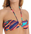 Roxy Brazilian Chic Criss Cross Bandeau Swim Top 300129