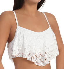 Roxy Gypsy Moon Crochet Flutter Swim Top 300151