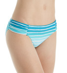 Miami Stripe Side Ruched Retro Swim Bottom Image