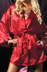 Seven 'til Midnight Flawless Satin Short Robe STM9282