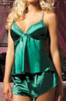 Seven 'til Midnight Flawless Satin Camisole And Tap Short Set STM9283
