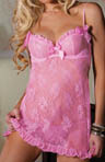 Seven 'til Midnight First Kiss Lace Babydoll STM9392